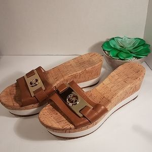 Michael Kors Leather Wedges Size 8